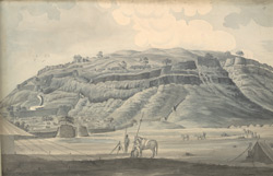 f.18   Gaulna Fort.  'Gaulnah fort drawn from the Northward D.  1/4' [quarter]' of a mile.'